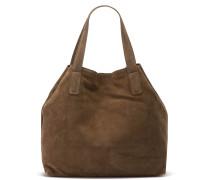 Suede Taupe Handtasche 2130100013050-L