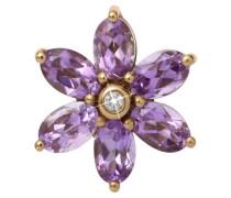 Big Amethyst Flower Gold Charm 25950