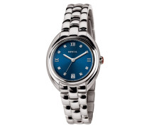 Claridge Bracelet Blau Dial Swarovski Uhr TW1586
