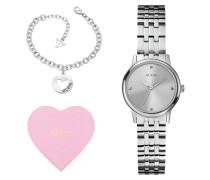 Giftset - Uhr & Armband - Silberfarbene 9275406