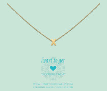 Heart For Initials Letter X Gold Charm L165INX13G