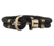 PHREPS Gold/Black Nylon Anchor Armband PH-PH-N-B-M