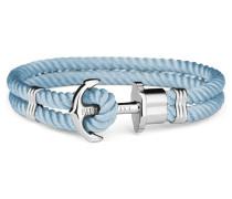 Phreps Anchor Silver Nylon Niagara Armband PH-PH-N-S-Ni (Länge: 18.00 cm)