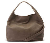 Buffed Leather Taupe Handtasche 2120100083029-M