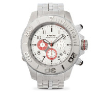 Metal Chrono Red  Uhr SBC--002