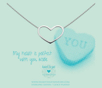 Open Big Heart Silver Kette N236BHS14S