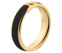 Twisted Resin Ring Black/Gold