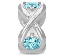 Sky Blue Infinity Ocean Silver Charm 41361-3