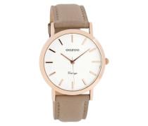 Vintage Braun/Weiß Uhr C8112 ( mm)