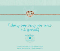 Nobody Can Bring You Peace But Yourself Rose Armband B280HSO16R