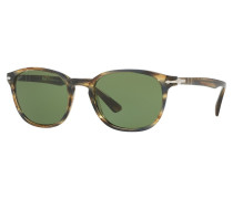 Sonnenbrille Striped Brown Grey PO3148 S90424E53