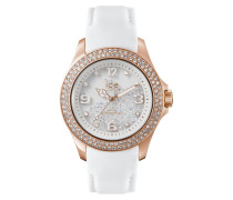 Ice Crystal Rose Gold White Unisex Uhr CY.RGW.U.L.14