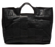 Smooth Leather Large Off Black Handtas 213020005