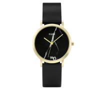 La Roche Petite Gold Black Marble Uhr CL40102