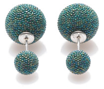 Double Dots Forrest Green Mini Spike Ohrringe 11184