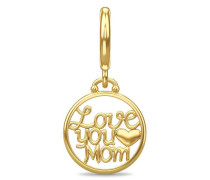 I Love you Mom Gold Charm 53247