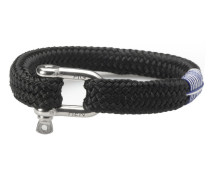Gorgeous George Black Armband P14-90000 (Länge: 17.50-18.00 cm)