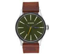 The Sentry Leather Surplus/Brown Uhr A105-2334
