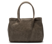 Buffed Leather Taupe Handtasche 2120100093029-M