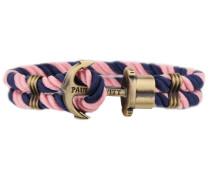 PHREPS Gold/Navy/Pink Nylon Anchor Armband PH-PH-N-NLP-L