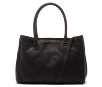 Buffed Leather Super Black Handtasche 2120100090003-M