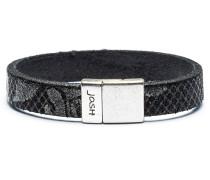 Silver Black Armband 18445-BRA-BLACK-S (Länge: 18 cm)