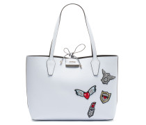 Bobbi Inside Out White Black Schultertasche HWPT64-22150-WTB