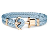 Phreps Anchor Gold Nylon Niagara Armband PH-PH-N-G-Ni (Länge: 18.00 cm)
