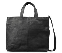 Trend Large Waxed Grain Leather Black Schultertasche 2330200030001-L