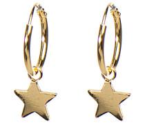 Hoops Symbols Star Silver Goldplated Ohrringe M1906