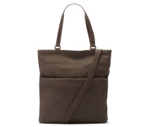 Buffed Leather Taupe Schultertasche 2820100013029-M