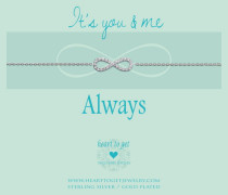 You And Me Infinity Silver Armband B235INZ14S