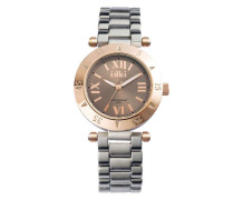 Daisy Silber/Rose gold/Taupe Uhr (Medium) D-6