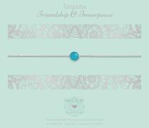 One Gemstone Turquoise Kette B353OGBT17S (Länge: 40-44 cm)