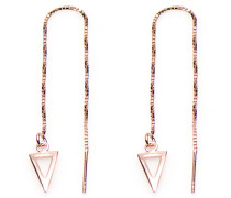 Pull Through Triangle Silver Roseplated Ohrringe M1834