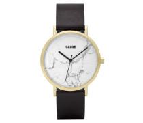 La Roche Gold White Marble/Black Uhr CL40003