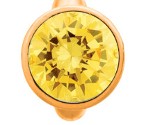 Round Citrine Dome Gold Charm 51203-5