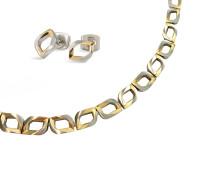 Perfect Giftset Bi Color Kette & Ohrringen 9002-0800902-SET