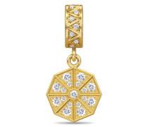 Jennifer Lopez Collection White Infinity Drop Gold Charm 1896