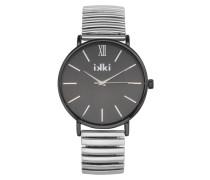 Indy Silber/Schwarz Uhr IN-05