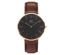 Classic Black Bristol Uhr DW00100125 ( mm)
