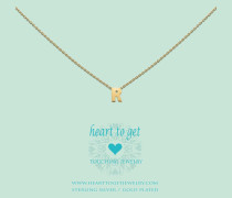 Heart For Initials Letter R Gold Charm L159INR13G