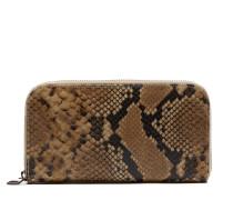 Snake Print Leather Medium Taupe portemonnee FBA18.322010015.TAUPE