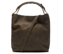 Trend Medium Hand Buffed Leather Olive Schultertasche 2320100097003-M