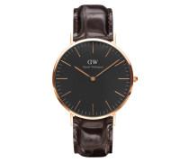 Classic Black York Uhr ( MM) DW00100128