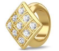 Sparkling Cubes Gold Charm 1586