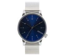 Winston Royale Silver/Blue Uhr KOM-W2353