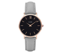 Minuit Mesh Rose Gold Gold Black/Grey Uhr CL30018