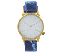 Winston Heritage Gold/Blue Jeans Uhr KOM-W2132