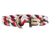 PHREPS Gold/Navy/Red/White Nylon Anchor Armband PH-PH-N-NRW-L (19.00 cm)